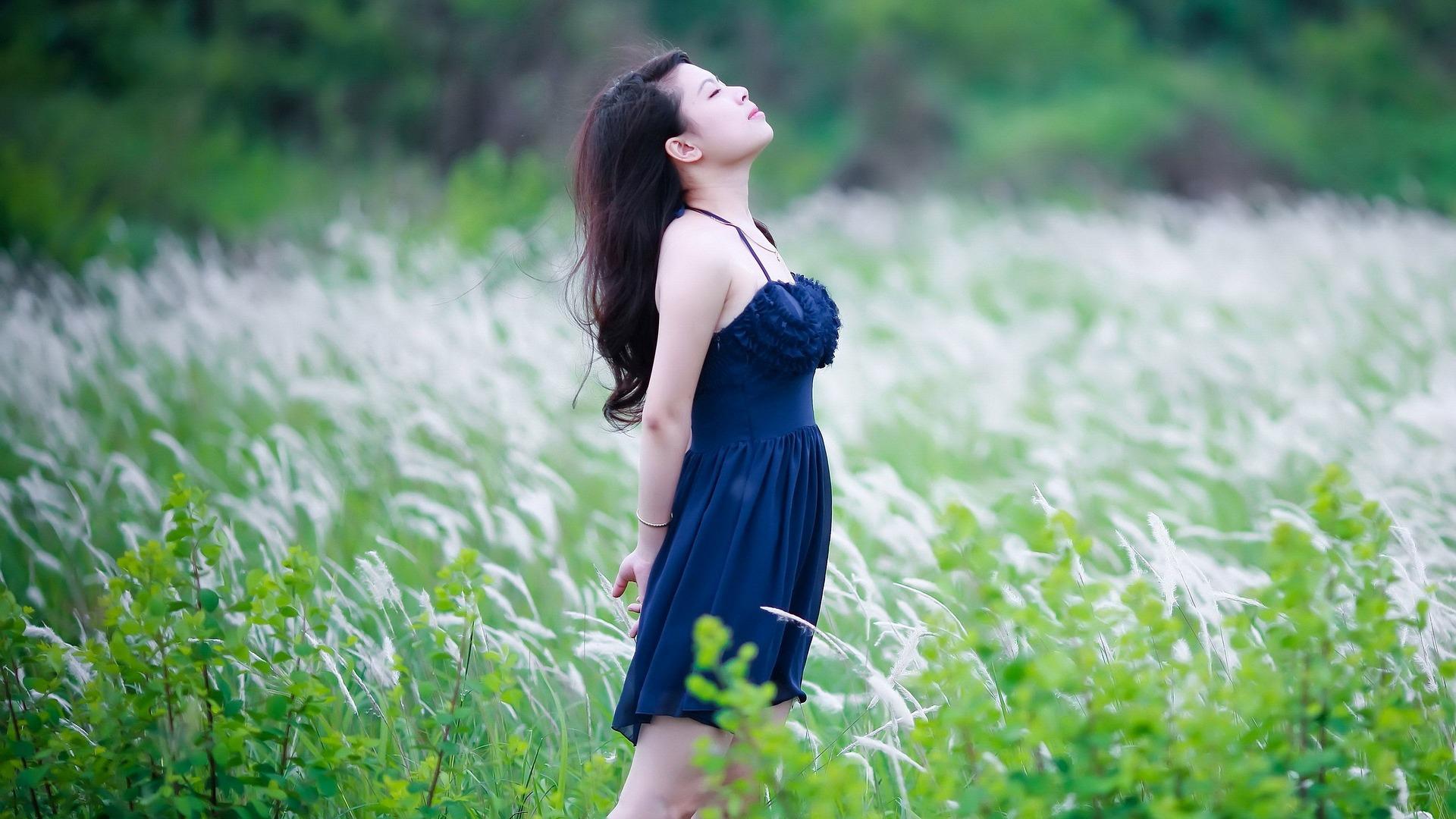 Woman in Field Image